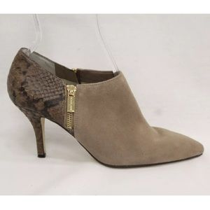 tan Michael Kors boots tan suede Brown leather